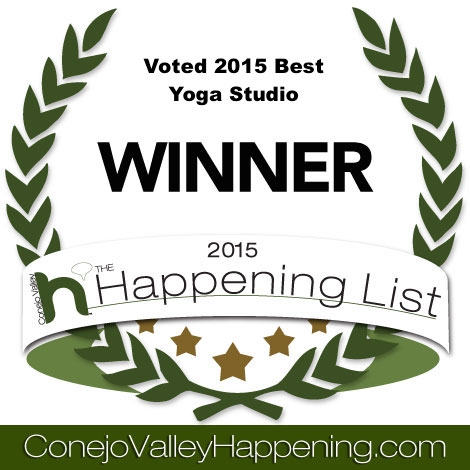 We are THANKFUL FOR OUR YOGA COMMUNITY WHO VOTED US THE #1 YOGA STUDIO IN THE CONEJO VALLEY FOR 2015