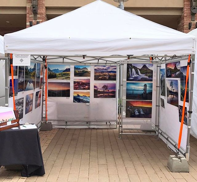 All set up at Park Meadows - The Vistas this weekend. Come on down!
