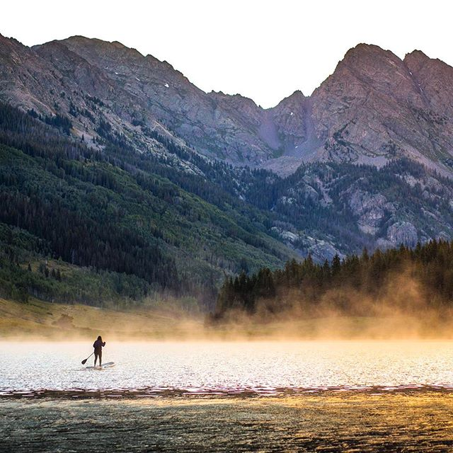 Early morning paddles in Colorado. It doesn't get much more serene than this!