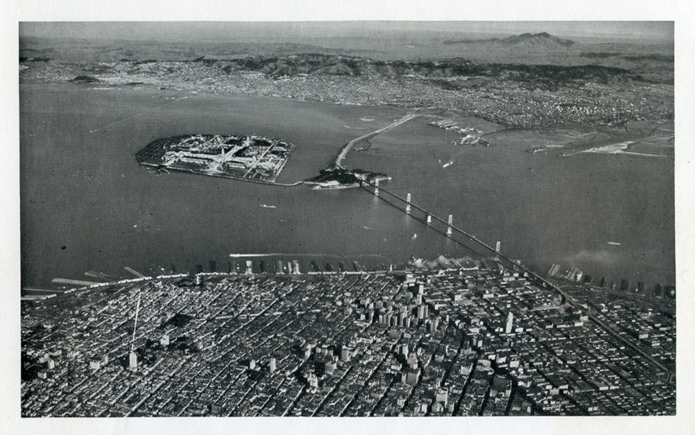 THE BAY BRIDGE IN 1939, AT THE OPENING OF THE GOLDEN GATE INTERNATIONAL EXPOSITION ON TREASURE ISLAND