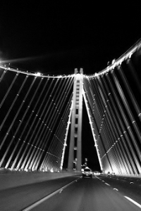 The new East Bay Crossing of the San Francisco-Oakland Bay Bridge | Photograph by Paul F. Wiggins