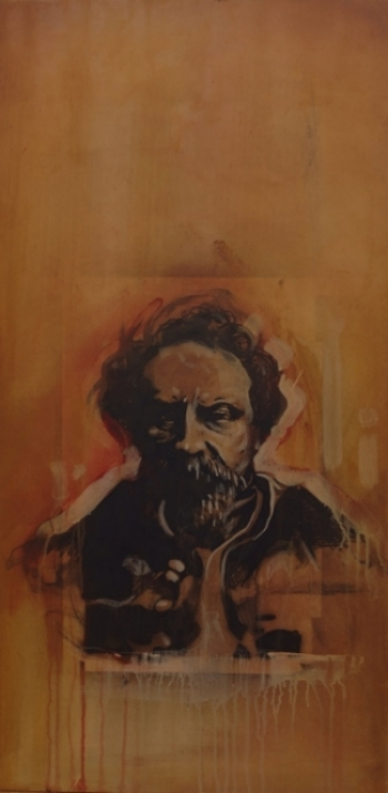 EMPEROR NORTON, Mixed media on canvas. Painting by Brenton Bostwick, 2006.