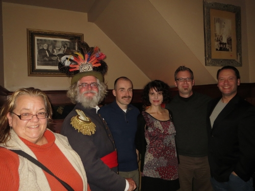 At Comstock Saloon on 23 November 2014, the founding Board of The Emperor's Bridge Campaign (l to r): Rachel Crossman, Joseph Amster, Mark Hogan, Sabine Luisi, John Lumea and Kristian Akseth. (Board member Devin McCutchen not pictured.)