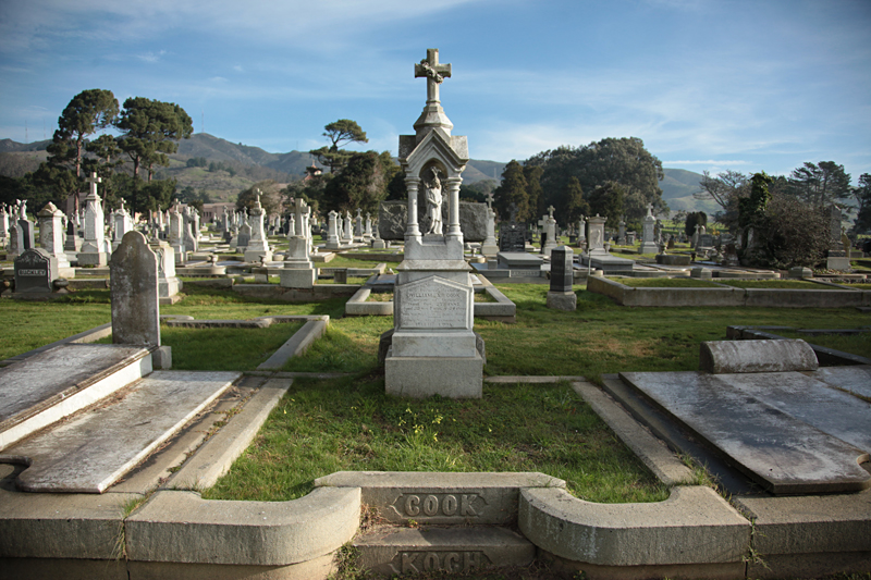 One of the many cemeteries in Colma, Calif. | Photograph by Gabrielle Lurie  © 2015 SF Weekly