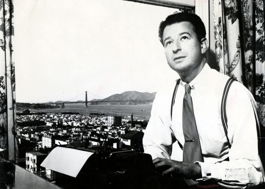 Herb Caen in the 1940s.  Source:  San Francisco Chronicle .
