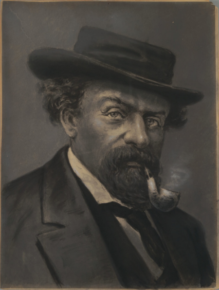 Portrait of Emperor Norton, c.1870s, by Virgil Williams (1830-1886). Collection of the Bancroft Library at the University of California Berkeley. Source: Calisphere.