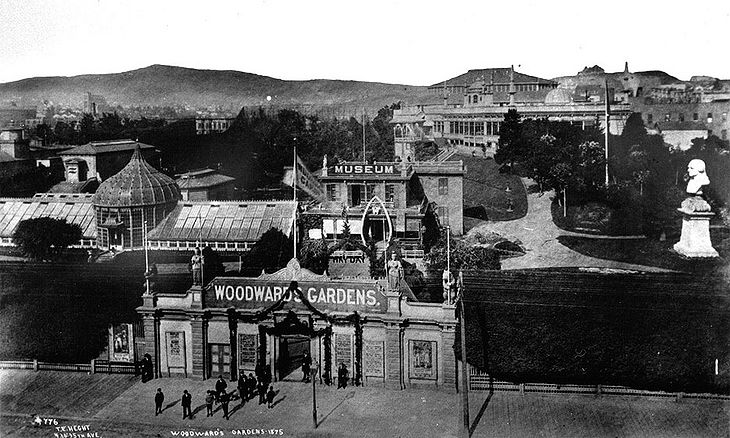 Woodward's Gardens, 1875. Photo by T.E. Hecht. Collection of the San Francisco Public Library. Source:  Found SF .