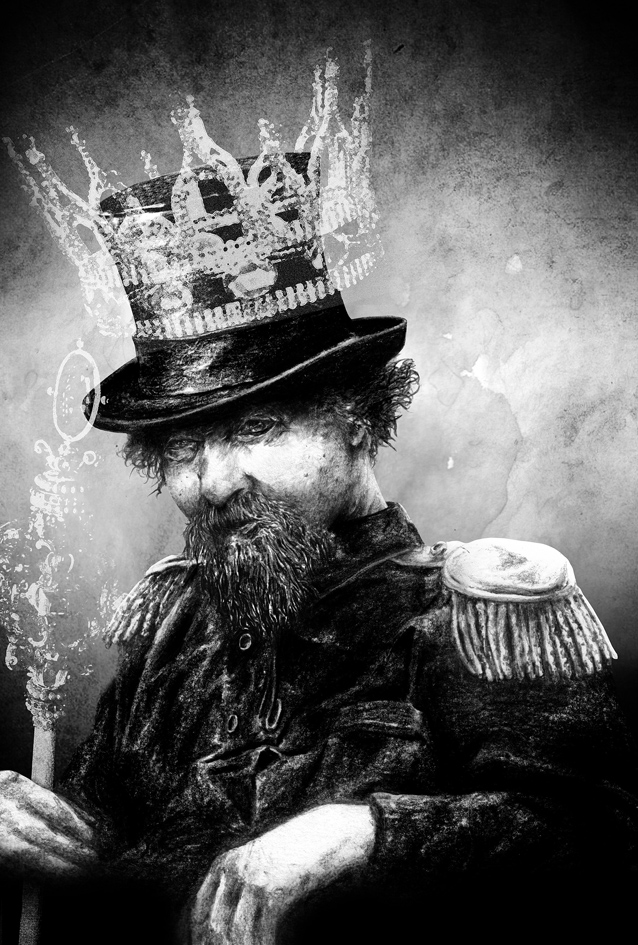 """Emperor Norton"" (2012), by Vincent Sammy.  Illustration for the book,  Pandemonium: Lost Souls  (Jurassic London). Illustration  ©  2012 Vincent Sammy. Source:  Deviant Art ."