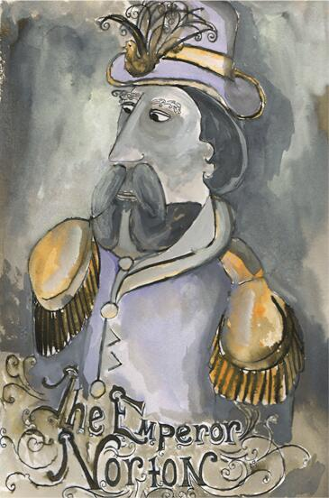 """The Emperor Norton"" (2014), by Rachel Schafer.   ©  2014 Rachel Schafer. Source:  Rachel Schafer ."