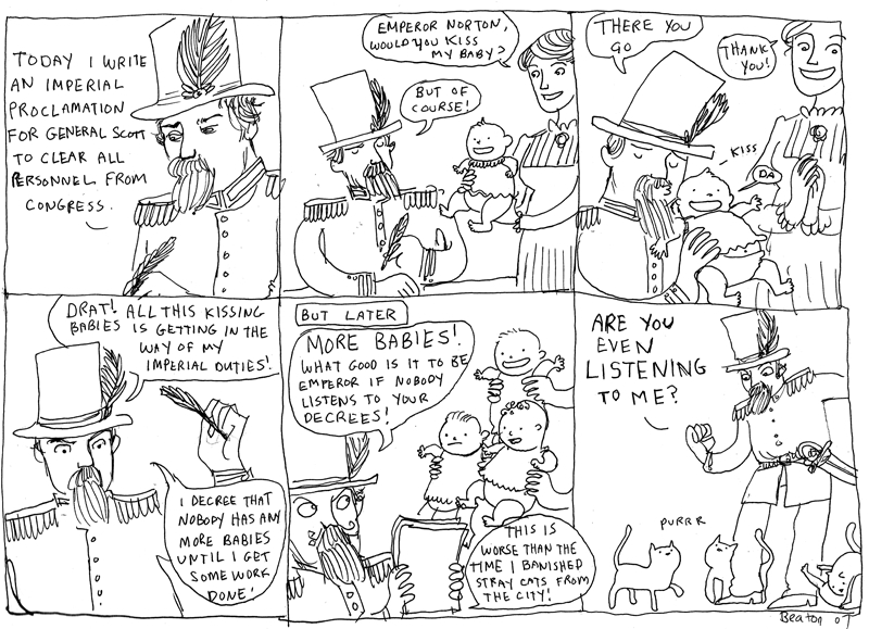 Comic, 2007, by Kate Beaton (b. 1983).   ©  2007 Kate Beaton. Source:  Hark! A Vagrant .