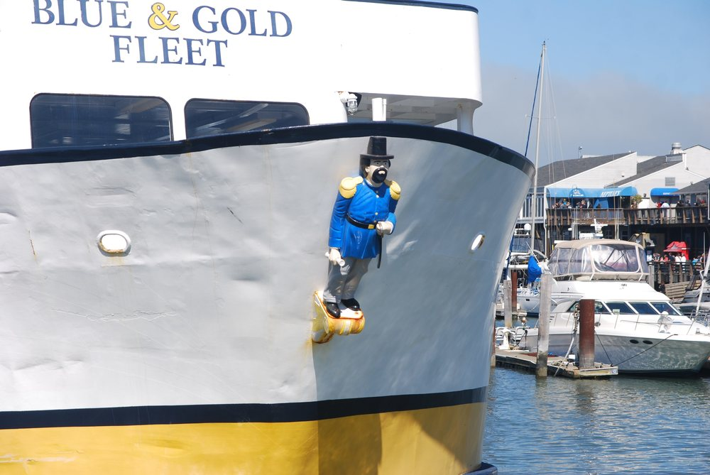 Figurehead of cruise vessel  Harbor Emperor , San Francisco, 1968, wood, by Elwin Millerick (1911-1997).  Built in 1968, the  Harbor Emperor  is part of the Blue & Gold Fleet of cruise vessels. Photograph © 2012  Paul Sullivan .