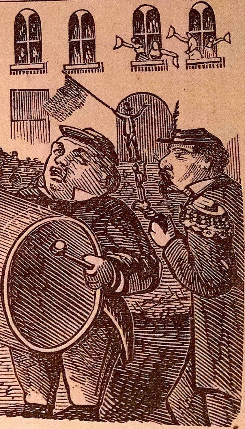 Detail of a comic, 1871, that appeared in the  California Mail Bag  magazine. Source:  Internet Archive .