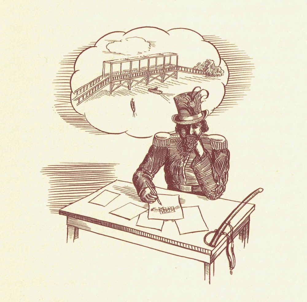 Illustration, 1939, by Pierre Vittier (1906-1998).  Source: Artwork in David Warren Ryder,  San Francisco's Emperor Norton  (1939).