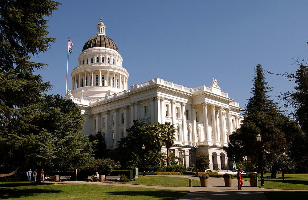 California State Capitol building , in Sacramento. Photograph: David Paul Morris. © 2003