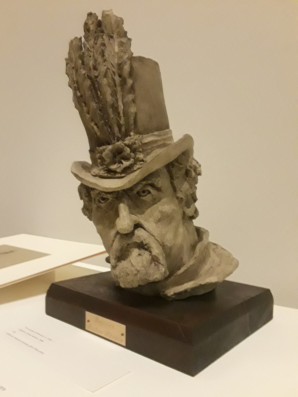 Emperor Joshua Norton (1984), clay, by Tom Jackson (b. 1931).  Collection of the California Historical Society; gift of the artist.