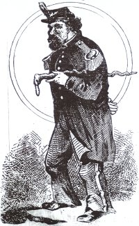 Detail of illustration of Emperor Norton  accompanying a biographical article on the Emperor that appeared in the 20 December 1913 edition of the San Francisco  Bulletin  newspaper. Source:  SFGenealogy