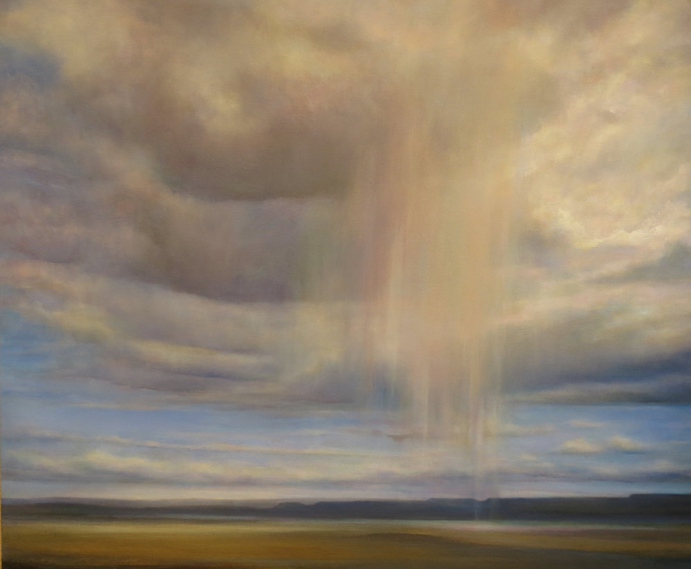 Walking Rain -- oil on canvas -- 30 x 36 -- Suzanne Wiggin -- $3900.JPG