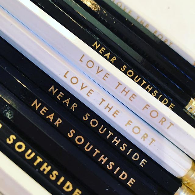 @wintonandwaits these babies are coming for you! #wholesale #pencils #foil #fortworth #nearsouthside #texas #texaslove #custom #stockist #shoplocal #shopforacause
