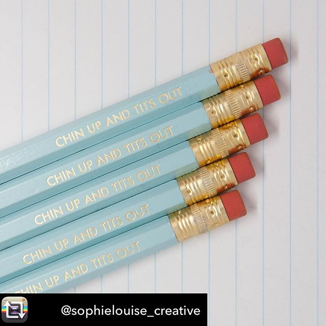 This is how we tackle a Monday. Thanks you @sophielouise_creative for posting a great photo! #mondaymotivation #pencils #pencil #foil #stationery #officesupplies #sass #chinup #chinuptitsout