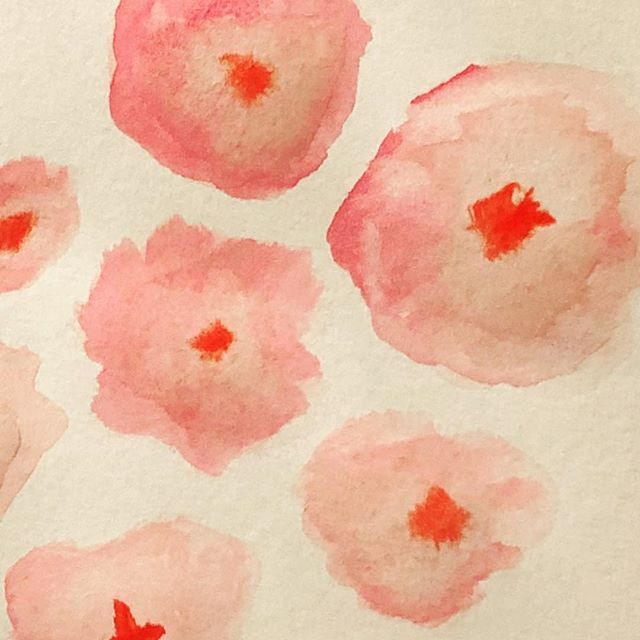 Trying something new #watercolor #patterns #pink #brushstrokes #gettingbacktomyroots #artmajor #tsbcalum #abstractart