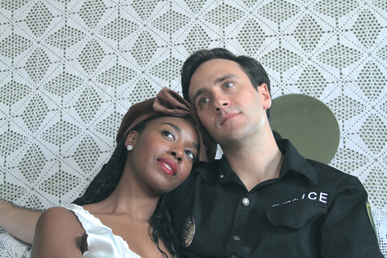 The Mistress (Tatiana Williams) & The Policeman (Michael Pignatelli) Photo by tajnatanovic http://www.theatertas.com