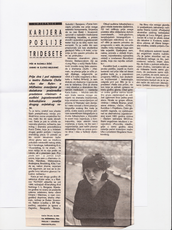 A career after age 30 (Start, Zagreb - 1988) ‪#‎throwbackthursday‬