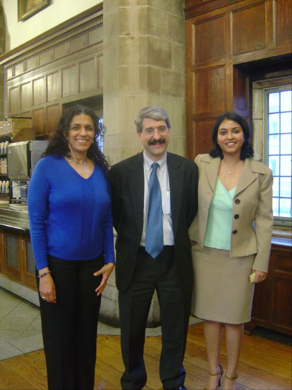 President Salovey, Saveena and Uma Shankar.jpg