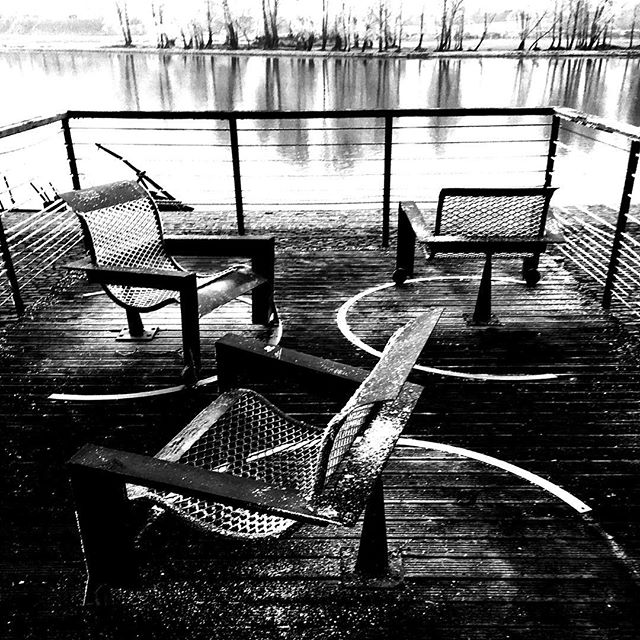 The tone of the conversation had grown noticeably icy. #loire #orleans #bordsdeloire #bw #winter #hiver #nb #provoke #d100