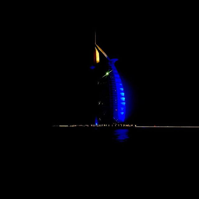 The Burj Al Arab at night. #uae #mydubai #burjalarab #nightphotography