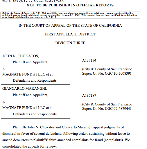 IN THE COURT OF APPEAL OF THE STATE OF CALIFORNIA