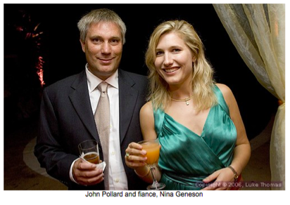 Nina Geneson and fiance John Pollard in 2006-Geneson married Jordan M Otis in 2011.    Photo from  Fog City Journal.