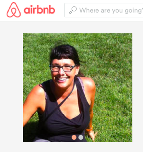 Emily's profile on AirBNB.