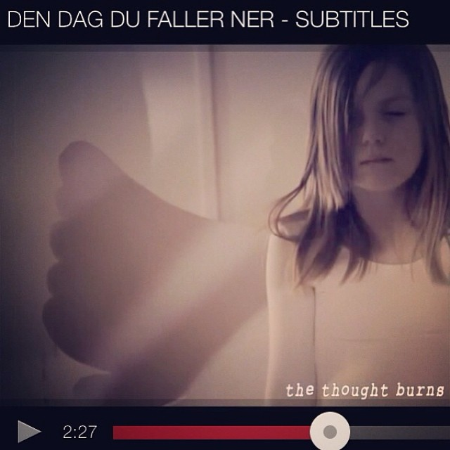 "By popular demand! ""Den dag du faller ner"" WITH SUBTITLES in English Enjoy! Lindforest.com http://youtu.be/RS9EcvnbeXg"