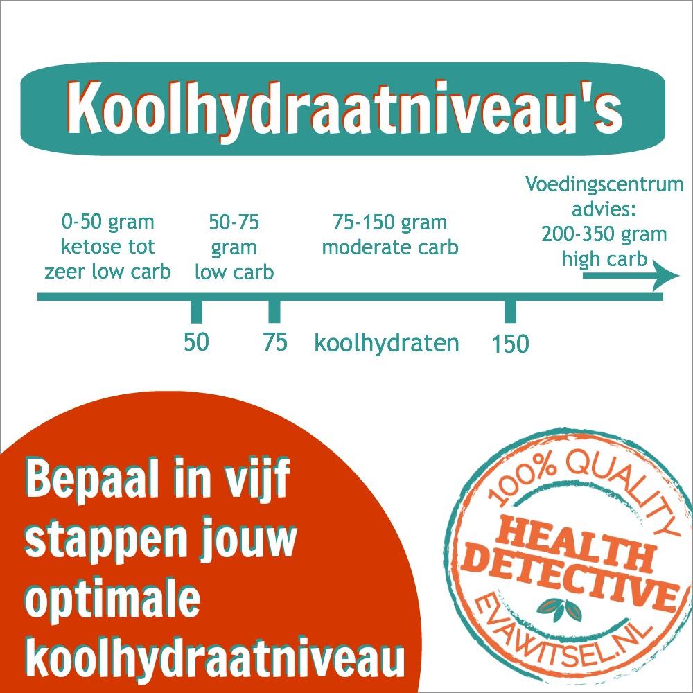 diabetes hoeveel koolhydraten per dag