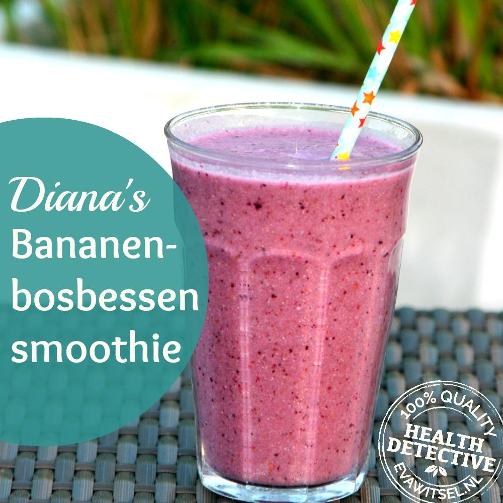 Paleo bananen-bosbessen smoothie
