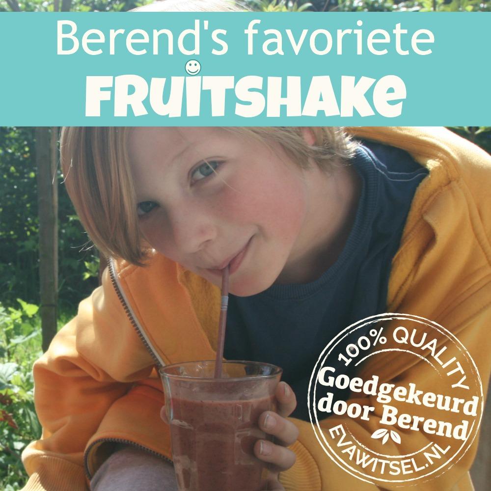 Paleo voor kinderen - Berend's favoriete fruitshake