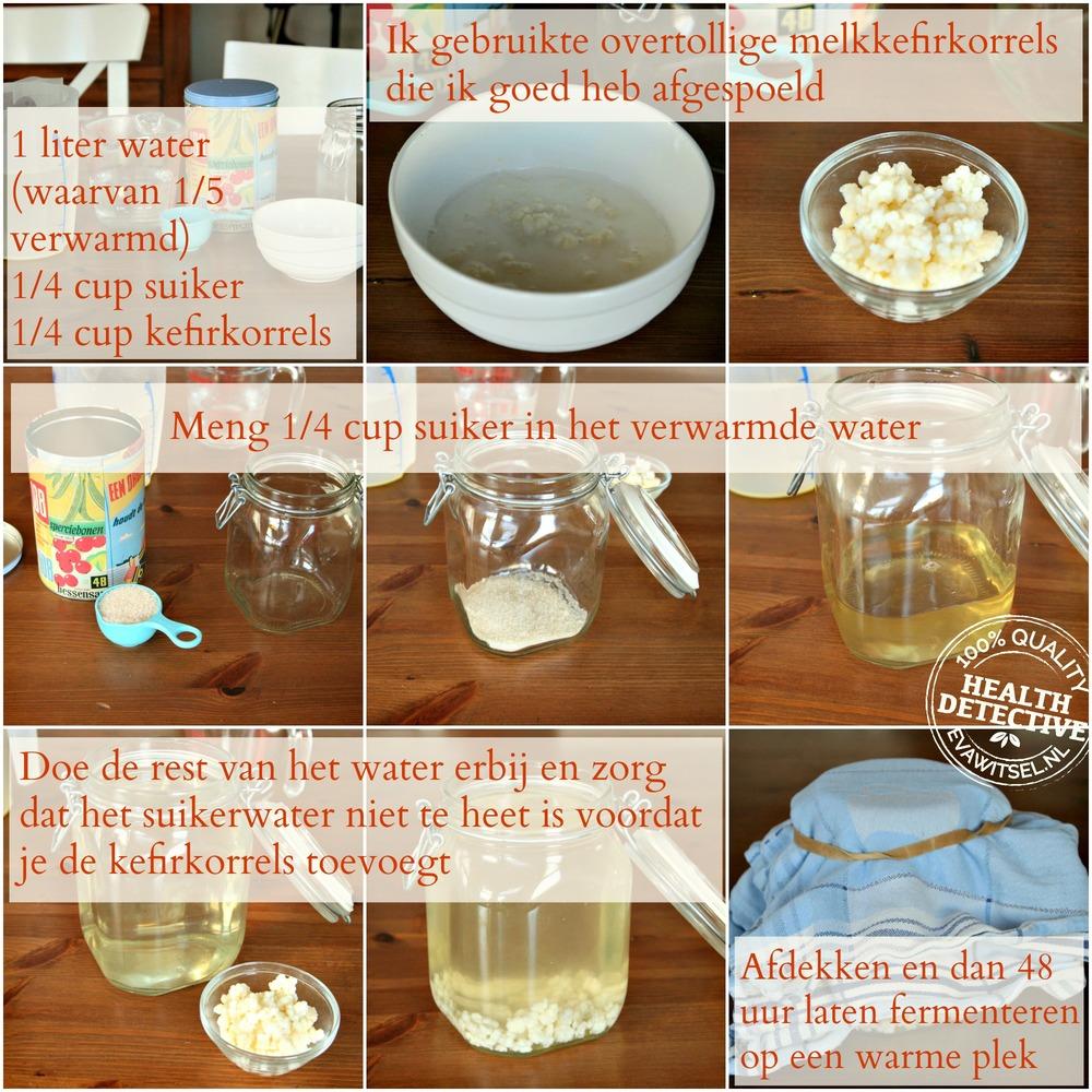 Waterkefir maken met melkkefirkorrels