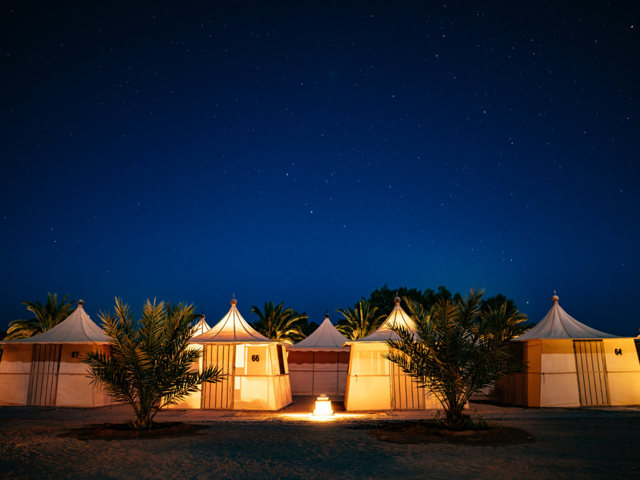 Beduin Camp at night in Wadi Rum