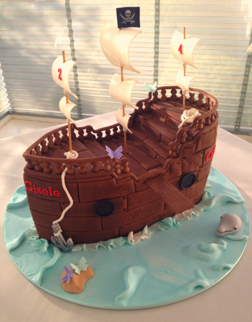 3d Pirate Ship Cake Burnt Butter Cakes
