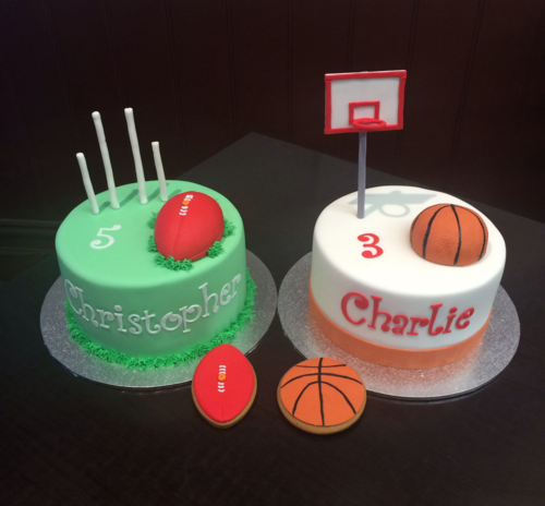 Footy Basketball Cakes Burnt Butter Cakes