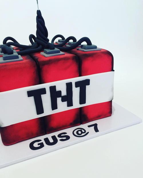 Minecraft 3d Tnt Cake Burnt Butter Cakes