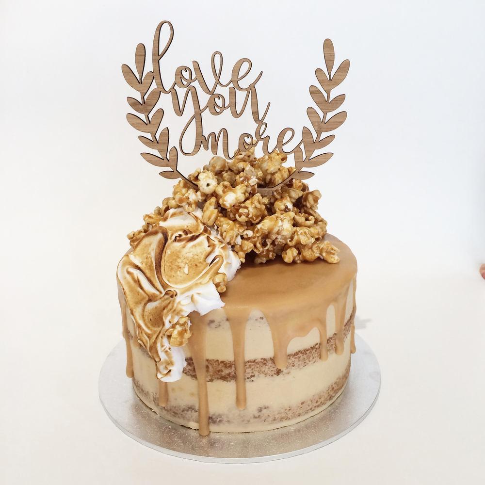 Popcorn Cake Topper
