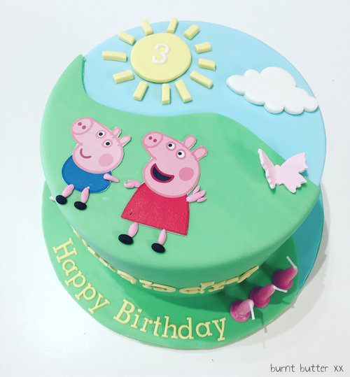 Peppa Pig Cake Burnt Butter Cakes