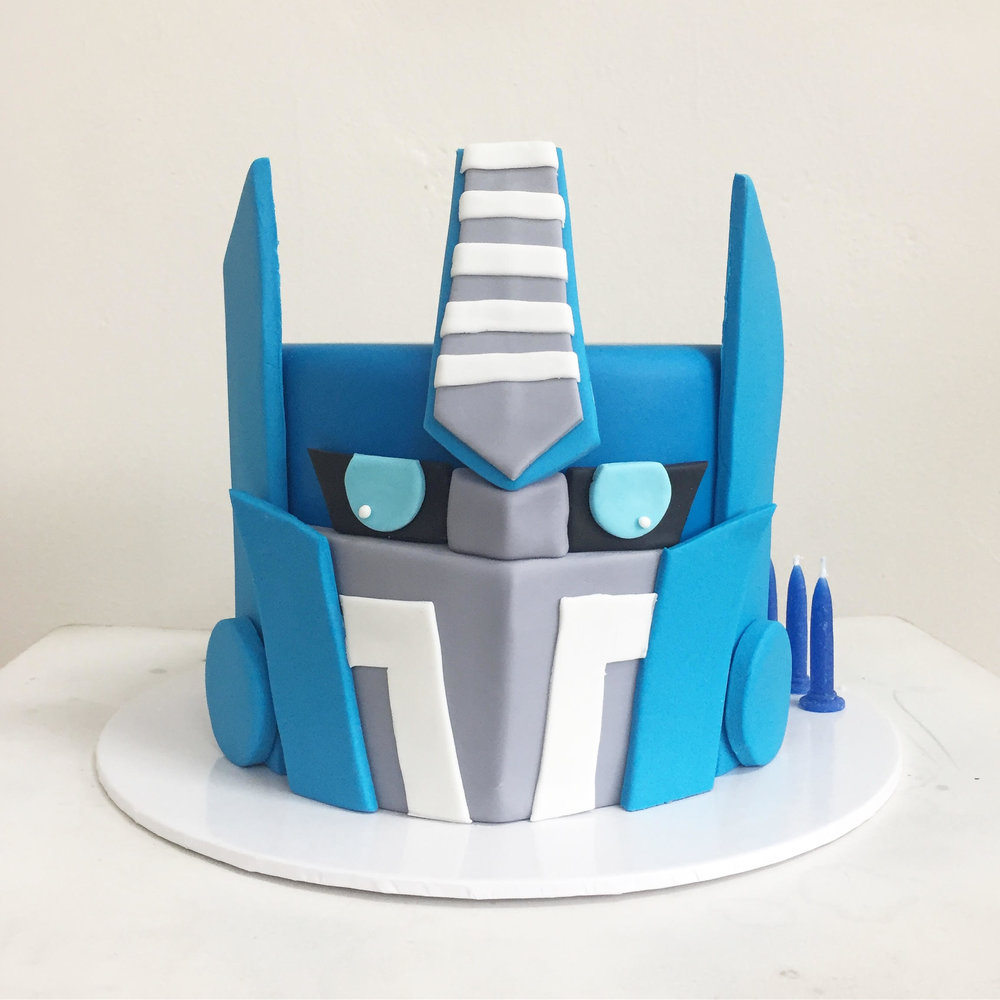 Transformers Optimus Prime Cake Burnt Butter Cakes