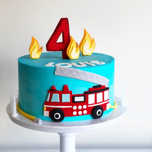 Louis Fire Engine Cake