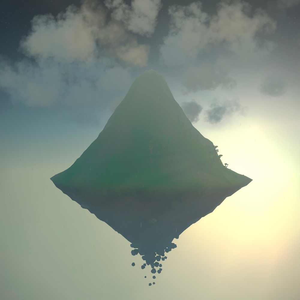 The floating mountains look like something out of Avatar.
