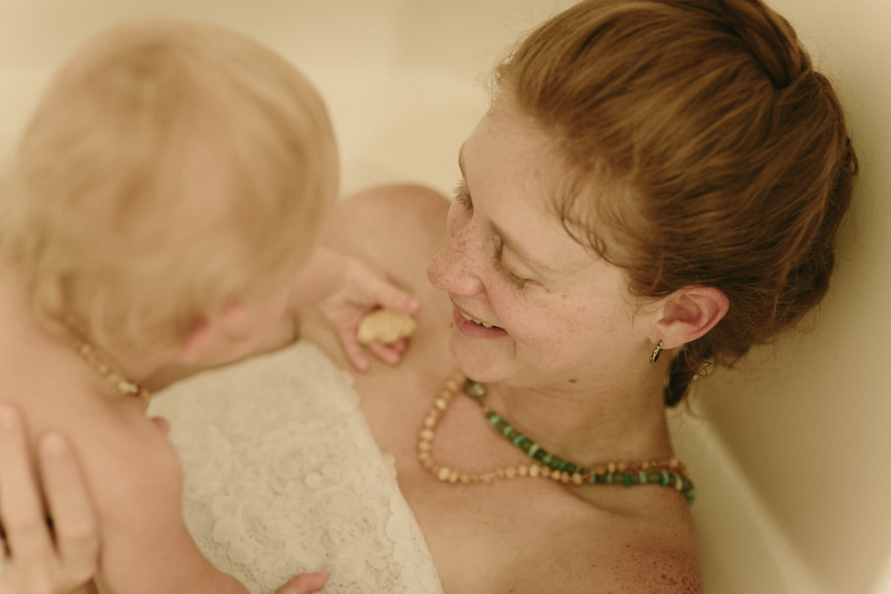 milk bath maternity photos