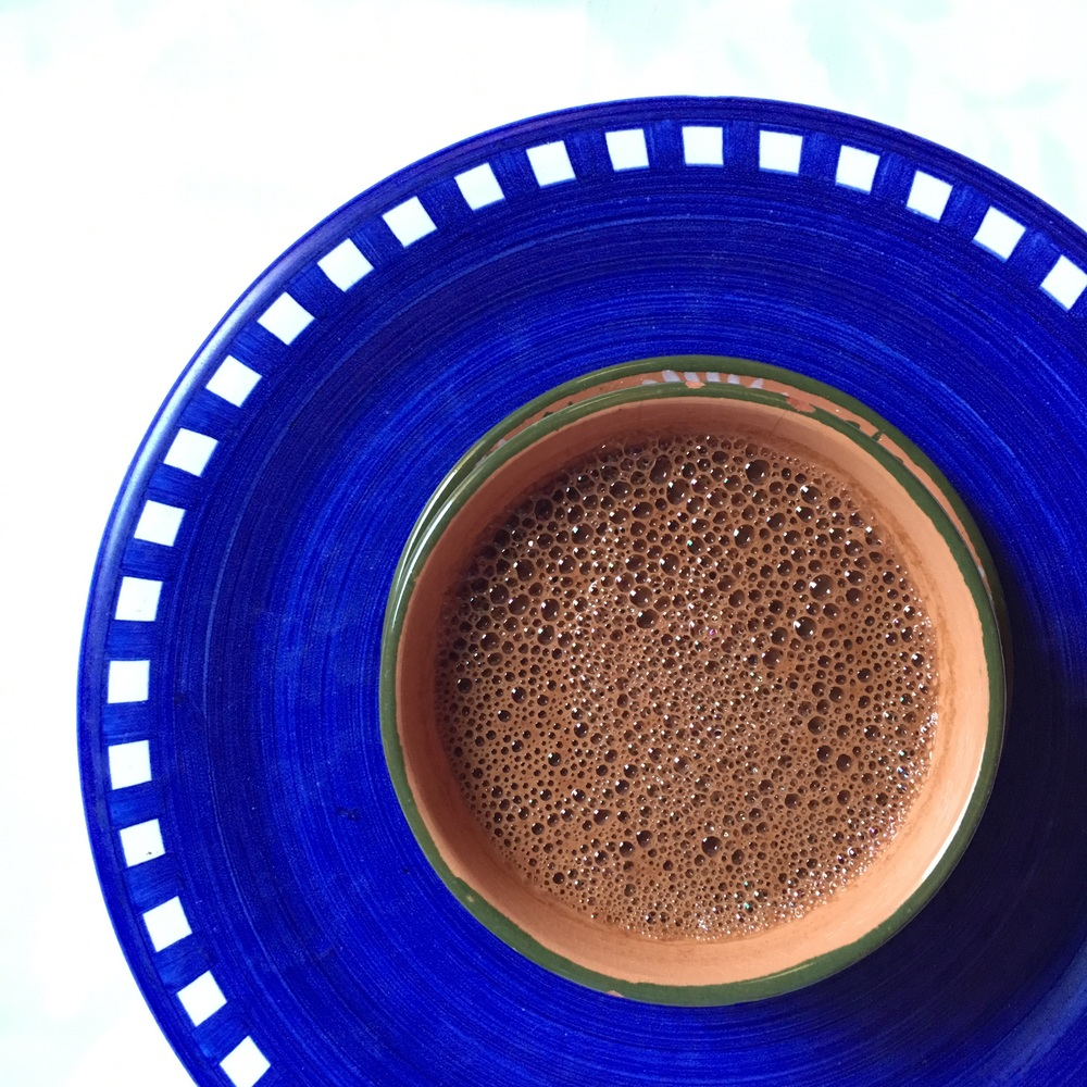 Pinole con chocolate, foto: Silvia Flores