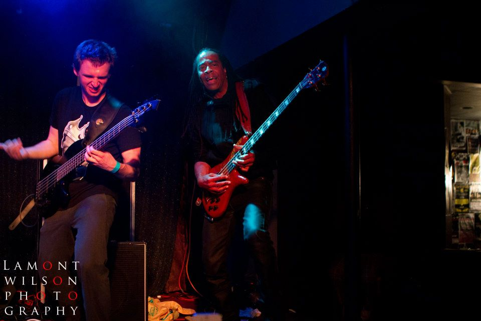 Performing with Doug Wimbish of Living Colour and Lauryn Hill in Philadelphia, PA at The Blockley.