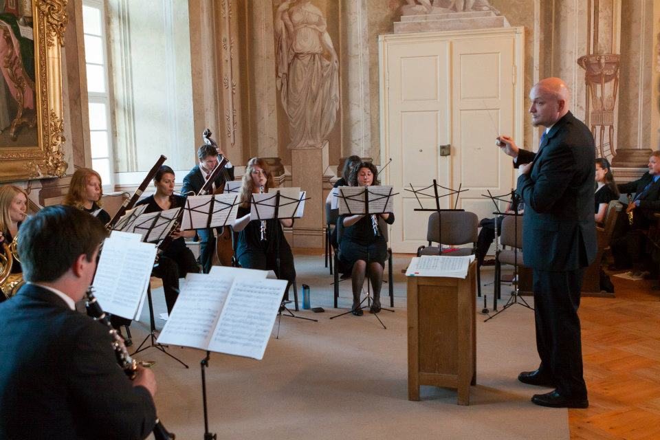 Performing with the West Chester University Chamber Winds in the Czech Republic.